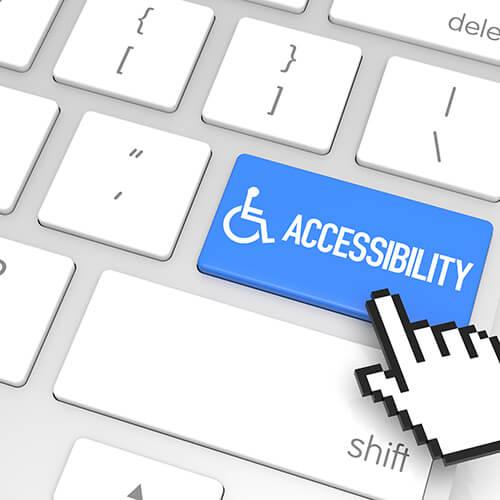 Sortie d'accessibilité pour les malvoyants